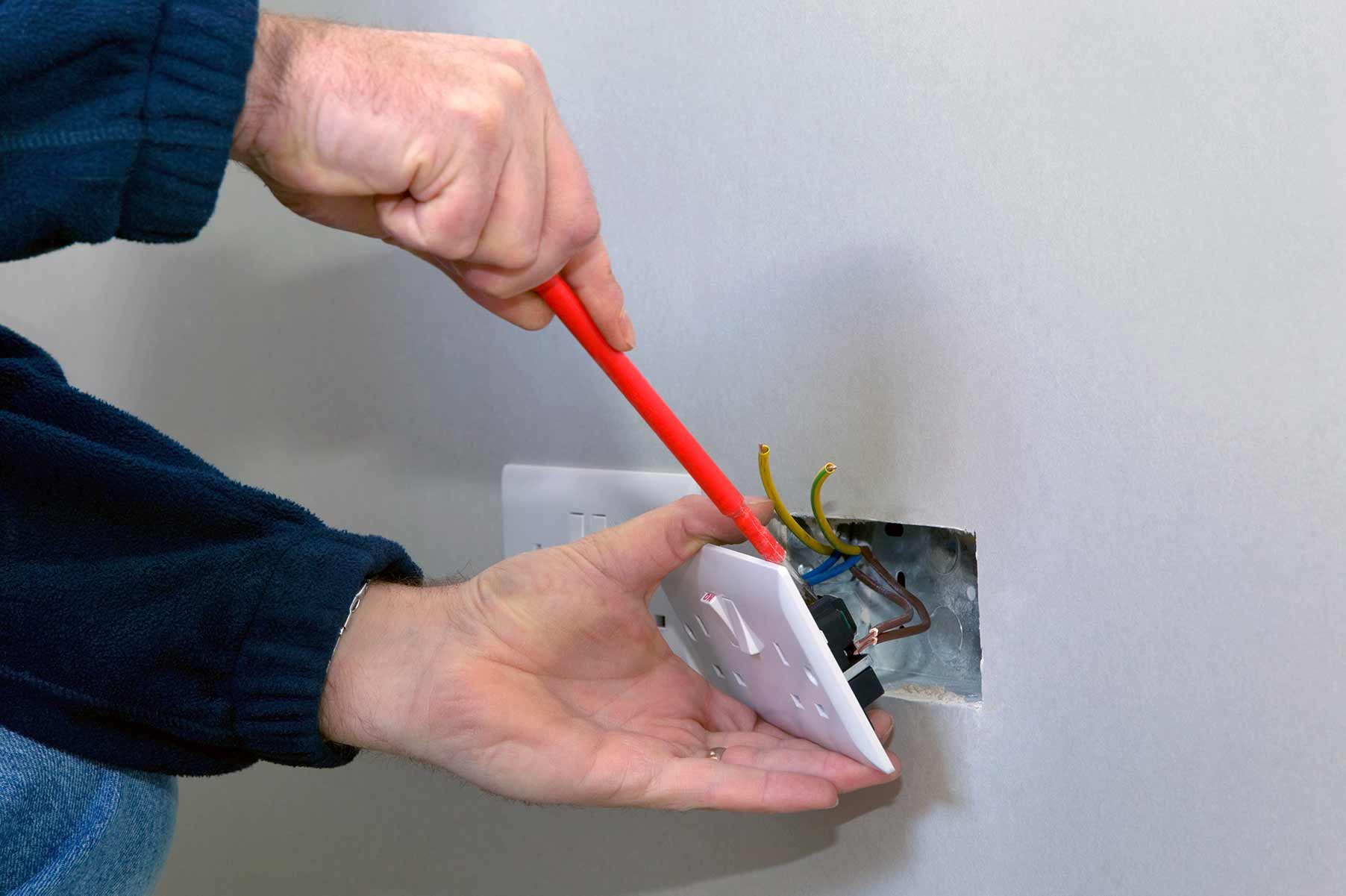 Our electricians can install plug sockets for domestic and commercial proeprties in Feltham and the local area.